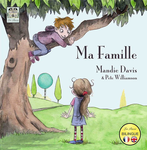 Ma Famille - My Family French English bilingual book from Les Puces. French cover