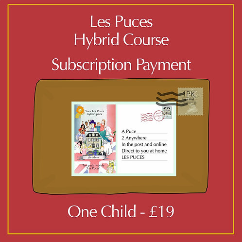 1 Child Enrolment for Hybrid Course Subscription (to learn French)
