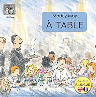 At the Table bilingual French / English childrens book from lespuces.co.uk