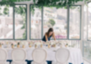Your destination wedding planner in Portugal and France make a dinner table set up