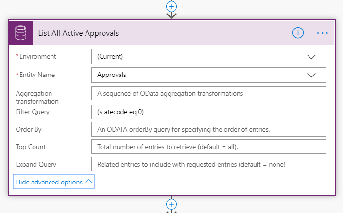 Getting a list of Approvals from the Common Data Service in Flow.