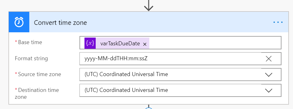 Using Convert Time Zone to format the date