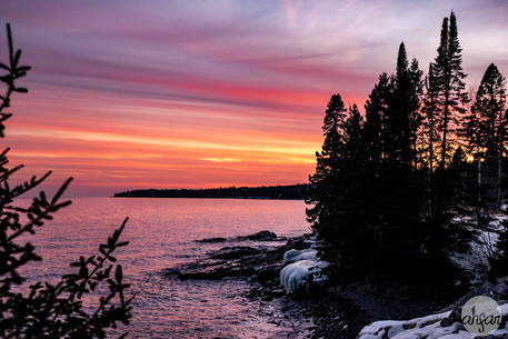 Sunset over the North Shore