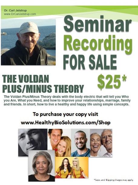The Voldan Plus/Minus Seminar Recording
