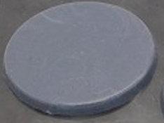 Shungite Rubber & Silver Disk