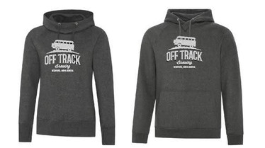Charcoal Hoodies with Light Grey Logo