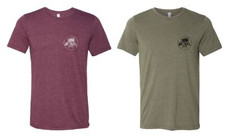 Maroon and Olive TriBlend Tees.JPG