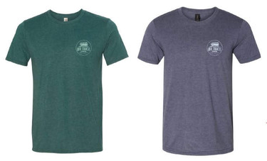 Green or Blue Tees - Distressed Logo