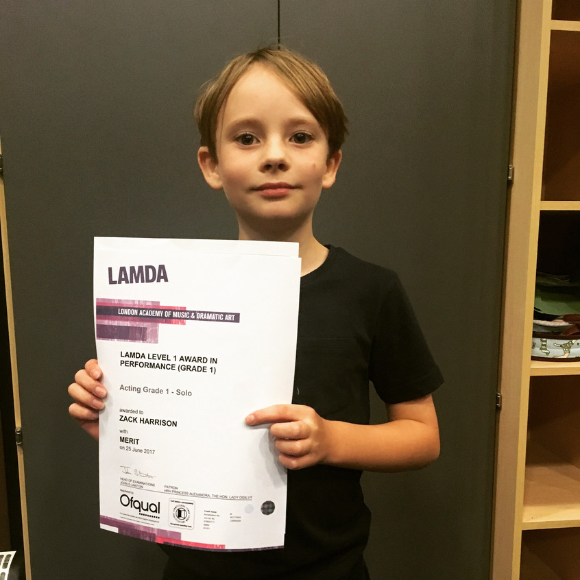Act One Student LAMDA Acting results