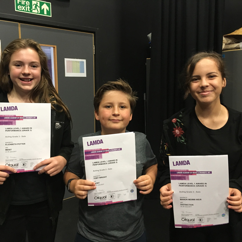 Act Two LAMDA Exam students Results