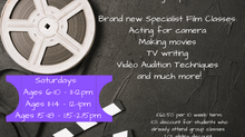 FILM CLASSES LAUNCHING!
