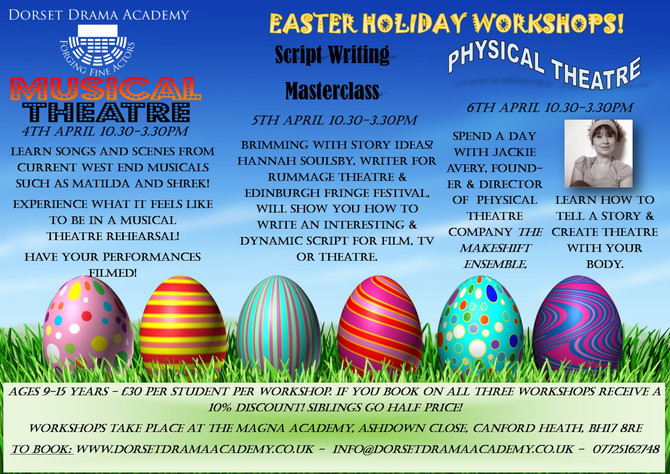 Easter Holiday Workshops - BOOK NOW!