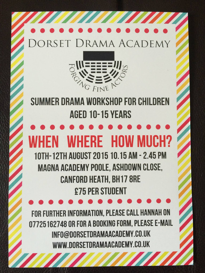 10% off Summer Acting Workshop until 14th March!