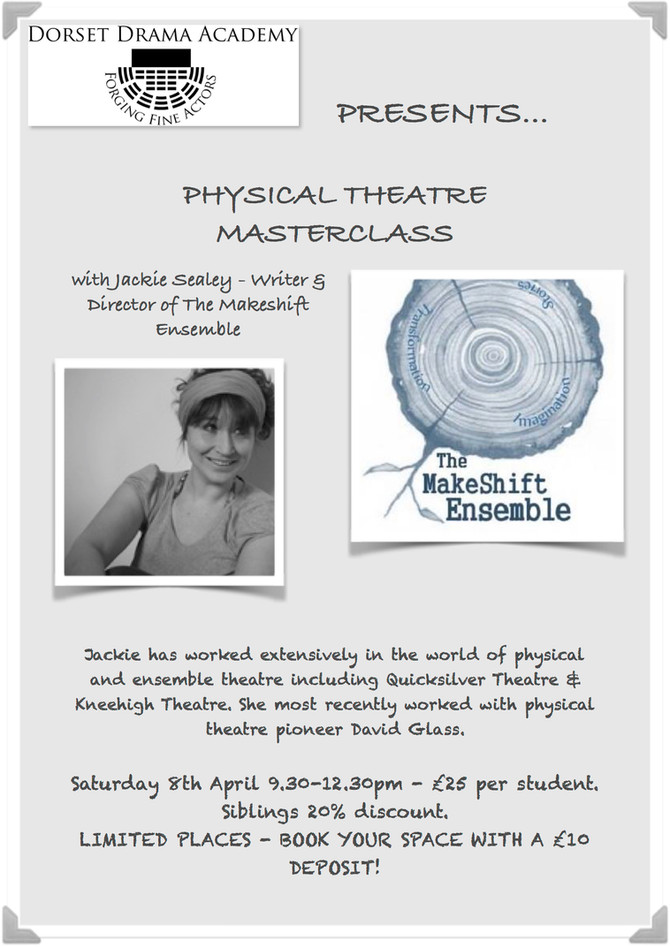 PHYSICAL THEATRE MASTERCLASS - BOOK NOW!