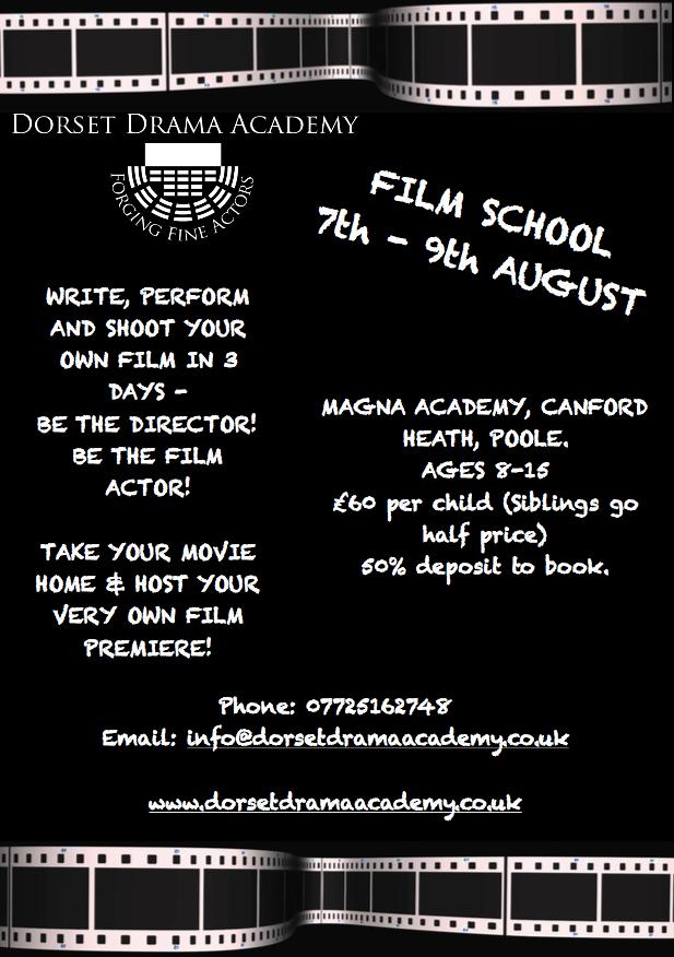 FILM SCHOOL 7-9th AUGUST! 10% off Earlybird Offer!