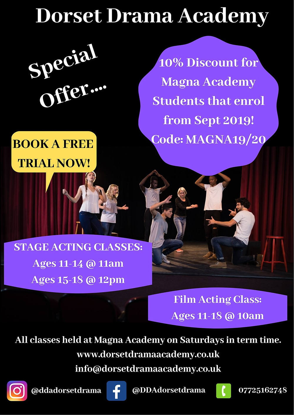 Magna Academy, Canford Heath, Discount, Drama Classes