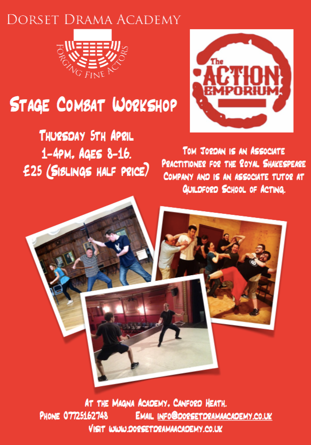STAGE COMBAT EASTER WORKSHOP - BOOK NOW!
