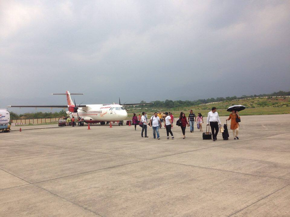 My modest arrival at Dharamsala/Gaggal airport.