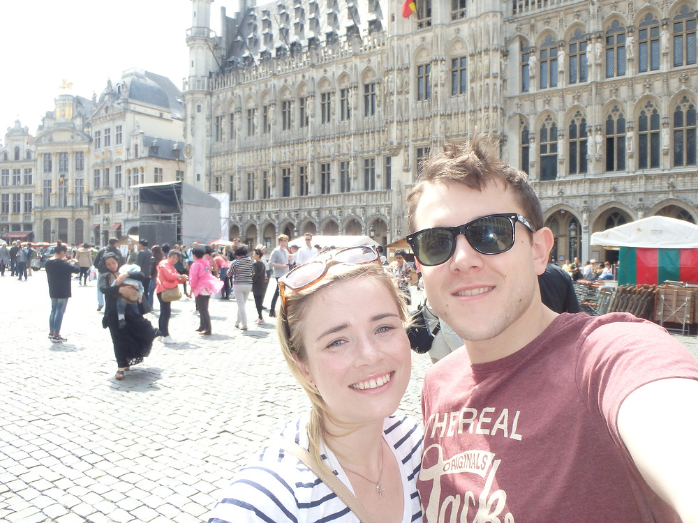 The Grand Place on a sunny Saturday