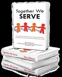 Together We Serve book stack image trans