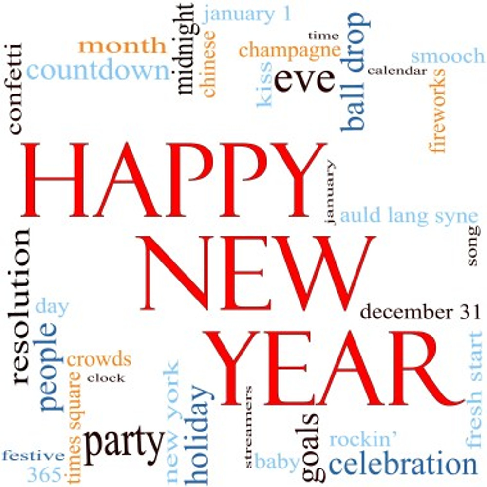 Happy New Year Word Cloud Concept