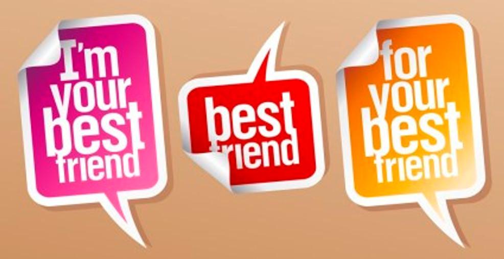 Best friend stickers.