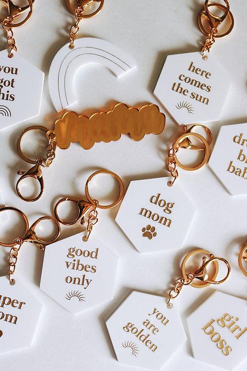 Girl boss acrylic keychain