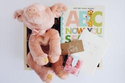 Custom gift box new baby