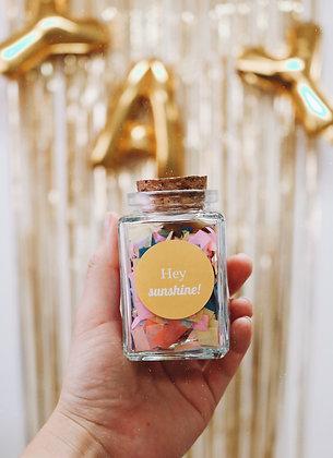 Confetti jar of happy