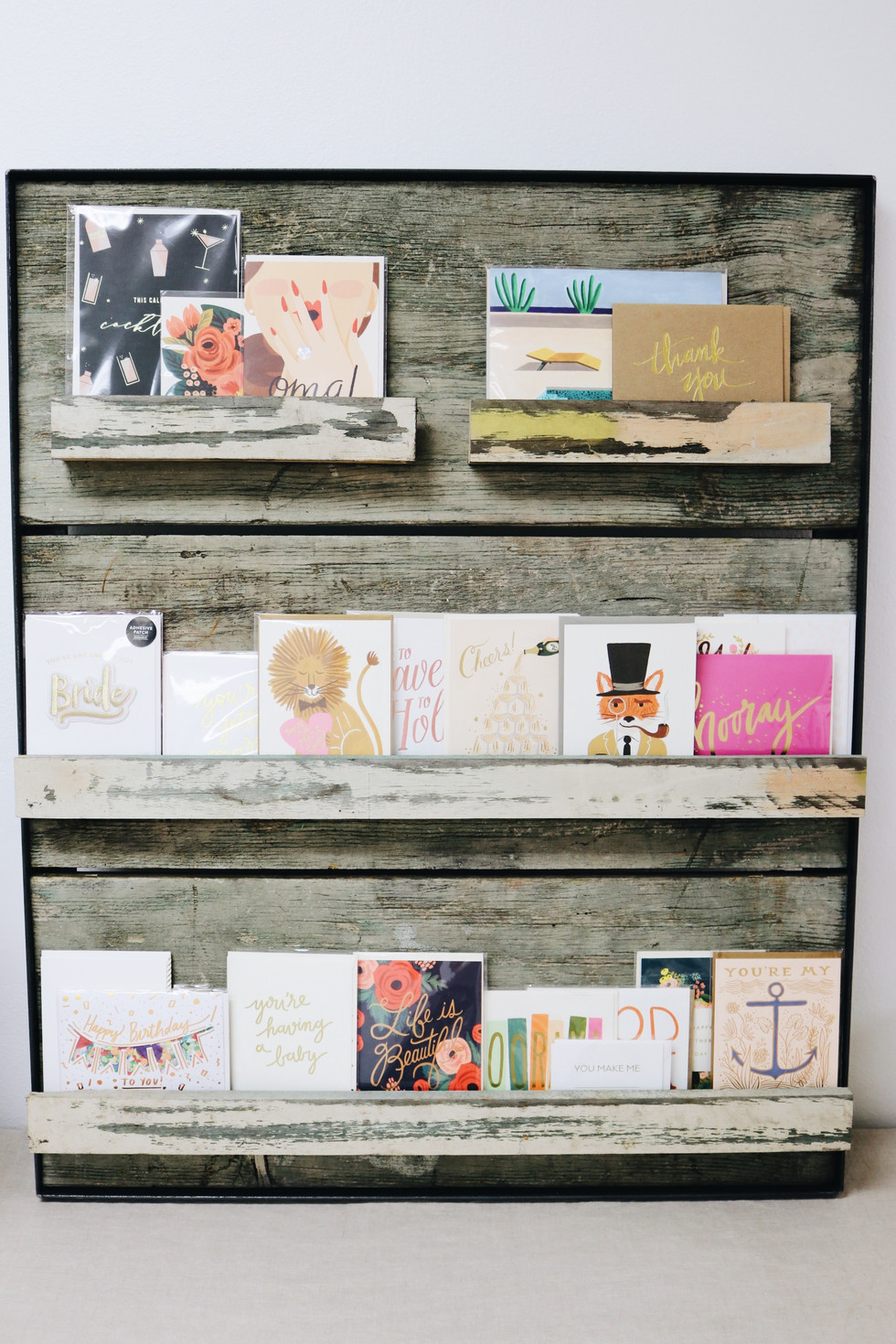 Wood greeting card golder