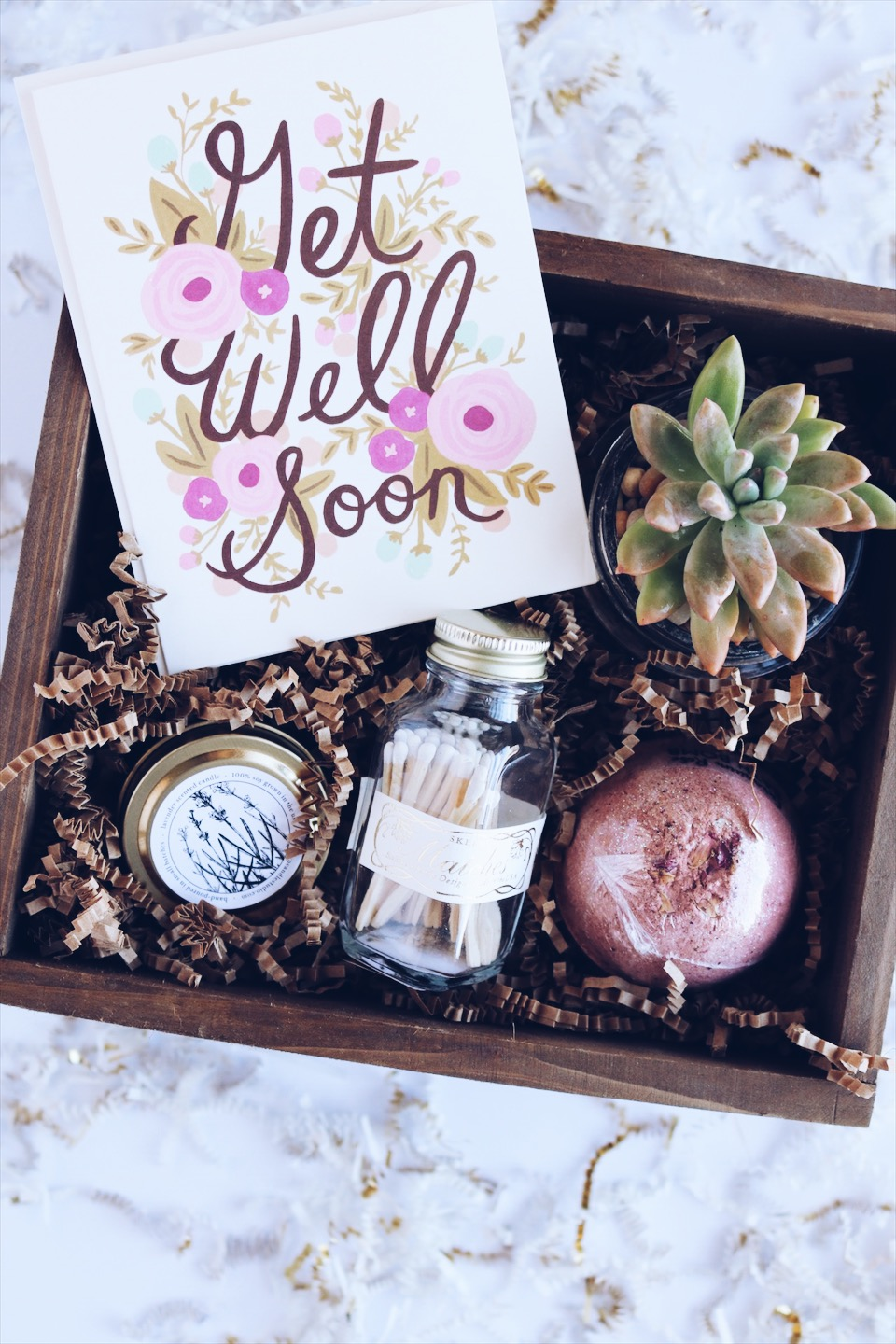 Get well soon custom gift box