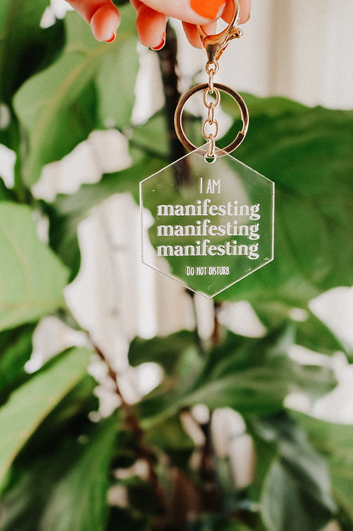 Manifesting acrylic keychain
