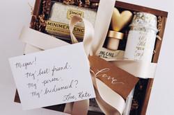 Bridesmaid gift custom gift box