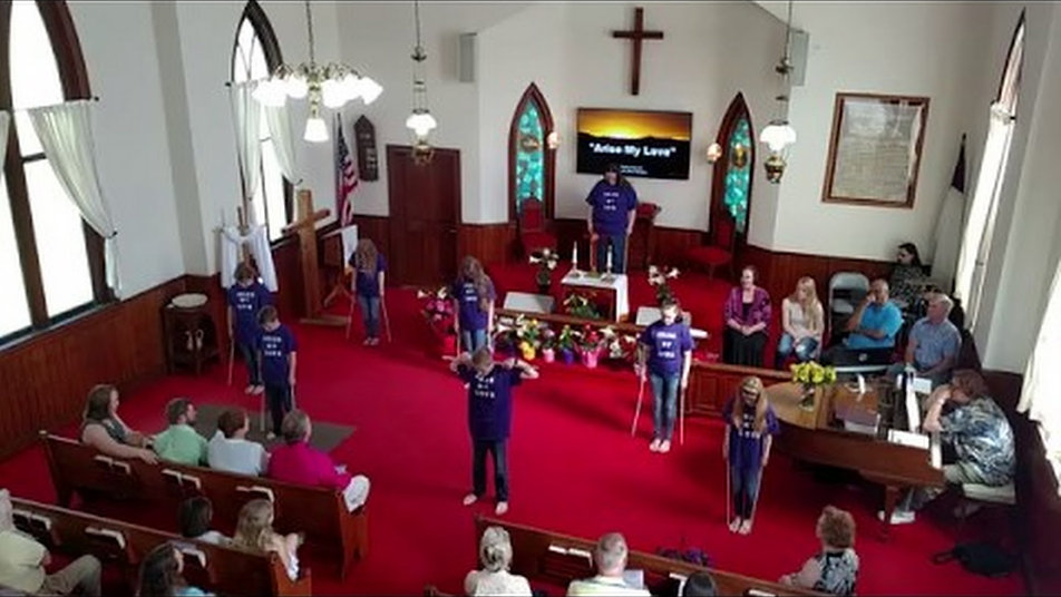 This is a video of the church's Stick Ministry performance.