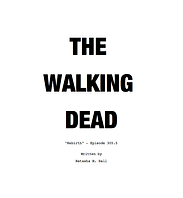 The Walking Dead Title Page