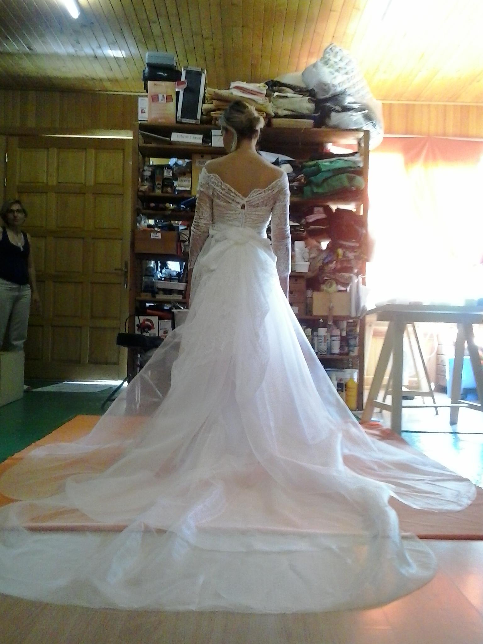 Prove dell'abito da sposa