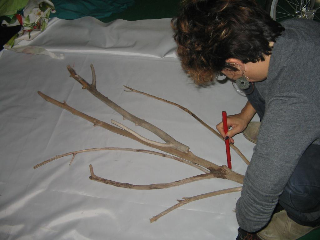 Albero dipinto e scultura
