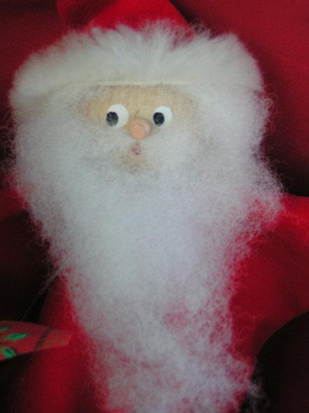 Babbo Natale Marotte a bastone fatto a mano (Pezzi Unici)