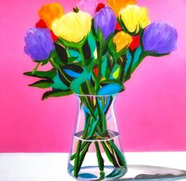 Tulips, 16x16