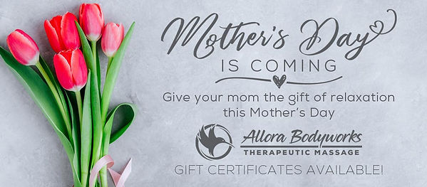 Allora Bodyworks Mother's Day is coming!