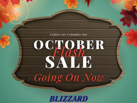 Columbus Day October Flash Sale!