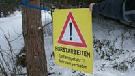 Winterzeit - Baumfällzeit - und: Unfallzeit ...