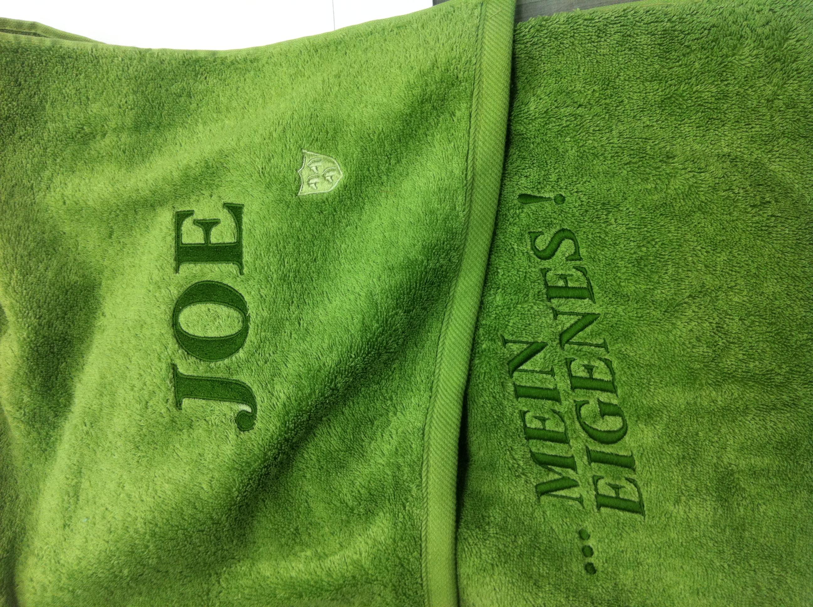 Handtuch-Stickerei