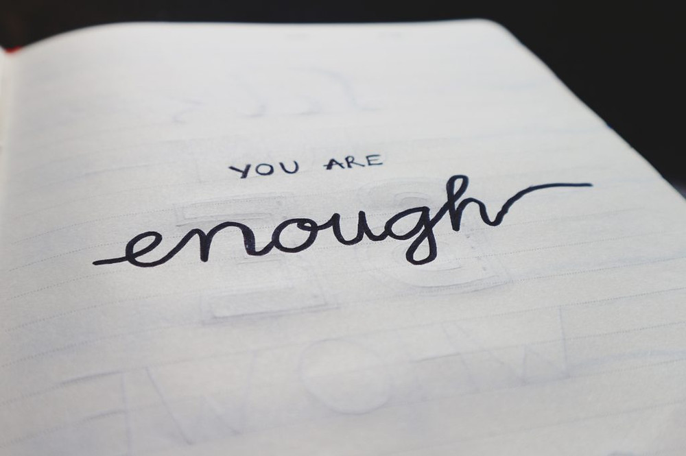 page with text you are enough