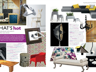 CHARLES SUGGESTS 'WHATS HOT' IN THE NEW ISSUE OF LUXURY HOME DESIGN
