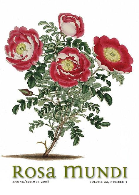 Rosa Mundi #9, Vol. 22, No. 3, Spring/Summer 2008