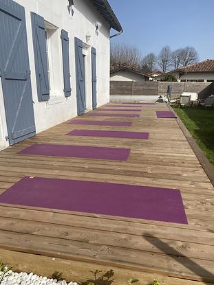 Yoga sur la terrace.HEIC