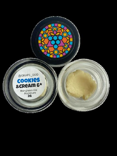 Grape God 2Gram Jar - Cookies & Cream 6* Hash Rosin