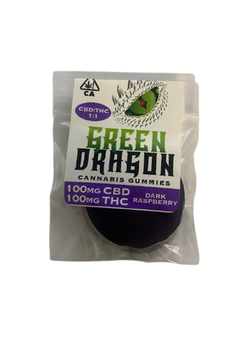 Green Dragon 1:1 100mgTHC/CBD Gummy - 4 for $50