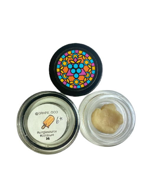 Grape God 2Gram Jar - Orange Creamsicle 6* Hash Rosin